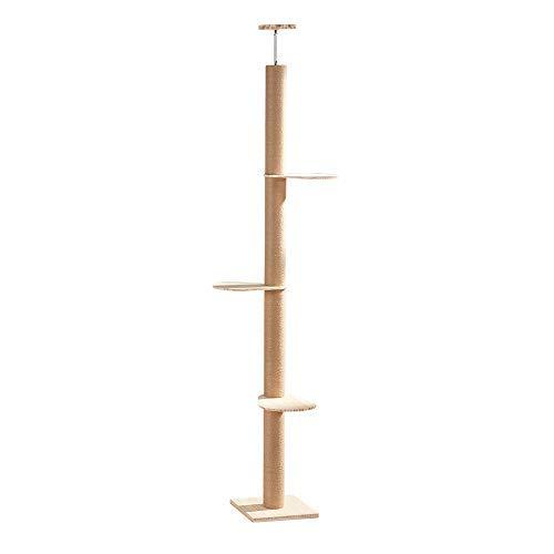 ForestCat お自宅で 木登りタワー シングル キャットタワー 突っ張り 猫タワー 省スペース 高さ230~245cm ...