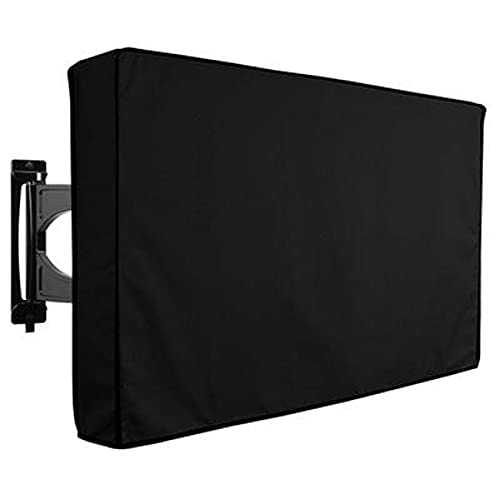 Outdoor Impermeable Funda TV, Clásico Negro Protector Para Televisor Funda 600D Oxford Weatherproof Funda Para Televisor Para Externo Monitor Televisión De Pantalla Plana-30-32 pulgada
