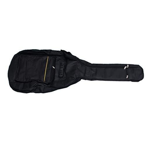 Exceart, borsa per chitarra acustica da 104,1 cm, morbida custodia imbottita con cinghie folk con tasche organizer per la casa da viaggio (nero)