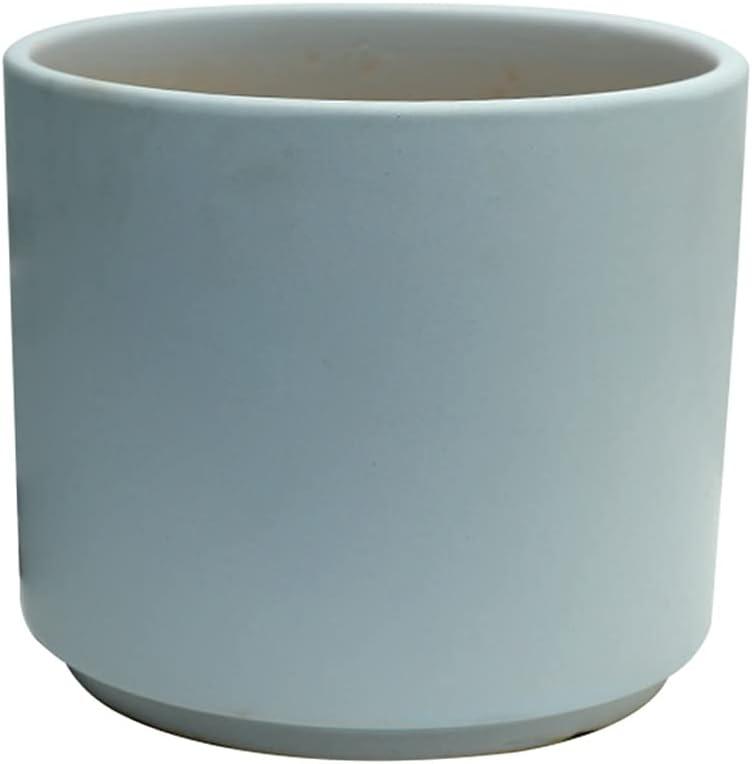 Under blast sales Juudoiie Blue Shipping included Round Flower Matte Ceramic European Pot