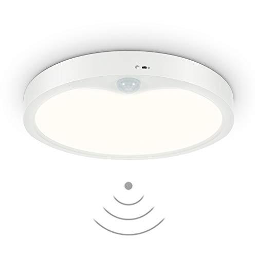 Anten Meldi | Lámpara de techo LED para uso interior con detector de movimiento y sensor de luz diurna | Redonda 18W | 4000K hasta 1800 lumen | Ø 22,5cm | Diseño plano