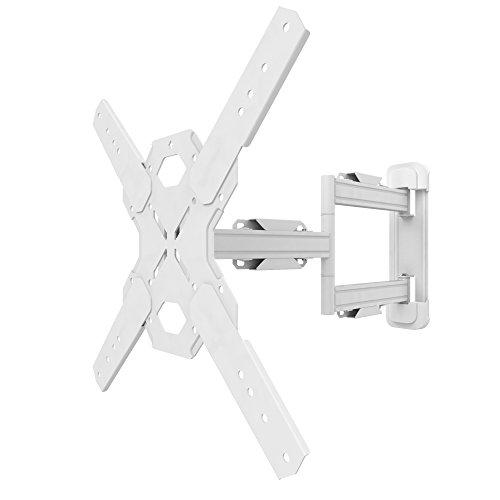 Kanto PS300W - Soporte de movimiento completo para televisores de 26 a 60 pulgadas, color blanco