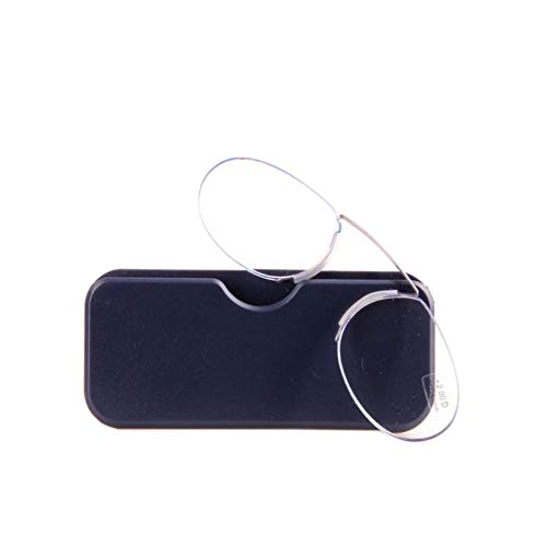 Parcclle Unisex Lesegläser Kompakte Sehehilfe Mini Nose Clip Bügellose Lesebrille Rutschfest Lesehilfe- Immer griffbereit9