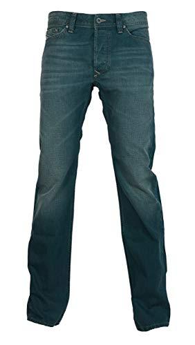 Diesel Viker 0R118 R118 Herren Jeans Hose Regular Staight Cut Dunkel Blau (31W x 32L)