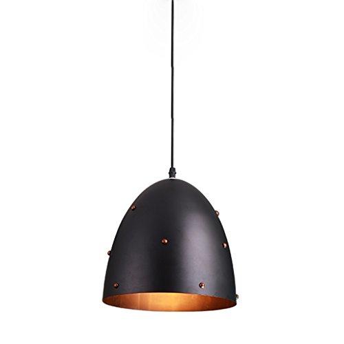 Lustre – Lámpara de techo industrial Semicircular Single Head Vintage Lighting Restaurant Lámpara de techo (color A) (color A)