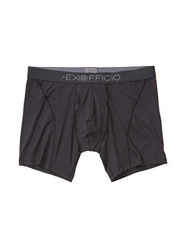 ExOfficio Men's Give-n-Go Sport Mesh 2.0 Boxer Brief 6', Black/Black, Medium
