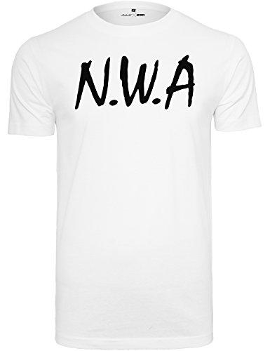 Mister Tee Herren T Shirt Kurzarm N.W.A, White, XS, MT270-00220-0058