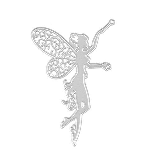shangjunol Marco del corazón de Acero al Carbono Hada cliché de Estampado Troqueles de Corte 3D Scrapbooking Tarjeta del Arte Dies