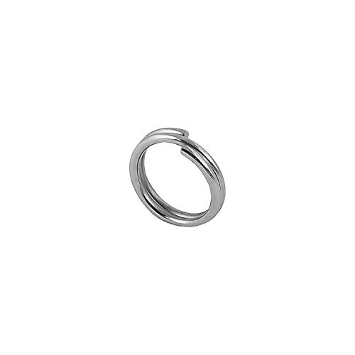 Riptail Stainless Steel Split Fishing Rings – Double Snap Loop Lure Connectors (Size 6mm (30lb) - 5 Pack)