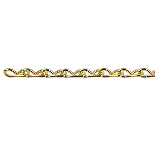 Perfection Chain Products 54515 #18 Single Jack Chain, Brass Clean, 10 FT Carton