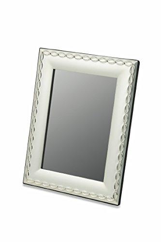 Galileo Casa Twist Cornice, Silver Plated, Acciaio/Argento, 2x27.5x32.5 cm