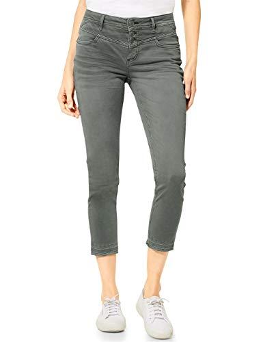 STREET ONE Damen Jane Jeans, Comfort Green Heavy Washed, W32/L26
