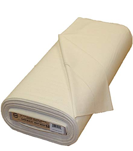 Rockland 92 by 76 Count Muslin, 44/45-Inch, Unbleached/Natural