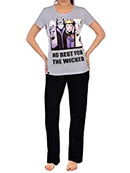 Womens Disney Villains pyjamas. Conjure up some mischief and mayhem in these wicked Disney PJs! Features a print of the tentacled sea witch Ursula, the evil Fairy Godmother Maleficent, the cruellest of them all Cruella De Vil with Snow White's Queen ...
