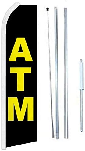 ATM Ranking integrated 1st place Super Flag Sign with Hybrid Complete Pole Finally popular brand Set-FI 2