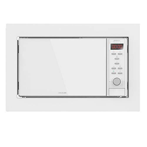 Cecotec Microondas encastrable Digital GrandHeat 2350 Built-In White. 900W, Integrable, 23 Litros, Grill, 9 Funciones preconfiguradas, Quick Start, Temporizador
