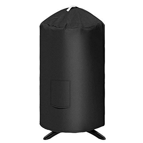 Uniflasy 19.5'' Dia Round Grill Cover for George Foreman GFO3320 GFO240 Grill, Heavy Duty Outdoor Water Proof Canvas BBQ Grill Cover Dome Smoker Cover for Similar Size Grills