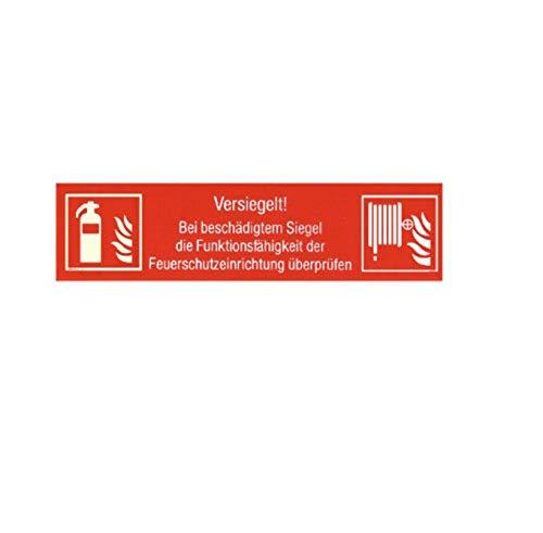 10x Siegel Feuerlöscher - Wandhydrant Prüfsiegel Kontrollsiegel von MBS-FIRE®