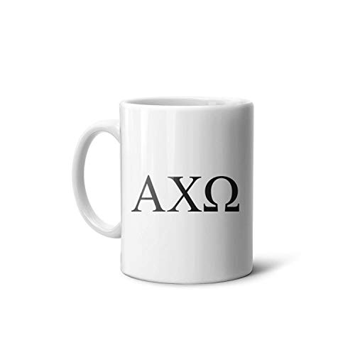 Bartonny Alpha Chi Omega Logo Coffee Mug Novelty Classic Ceramic Tea Cup Gift for Office Home 11 Oz