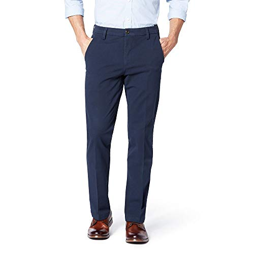 Dockers Pantalones ajustados ajustados delgados del d¨ªa de trabajo del caqui del Workday de los hombres elegantes 360, Pembroke / Stretch, 33W x 32L