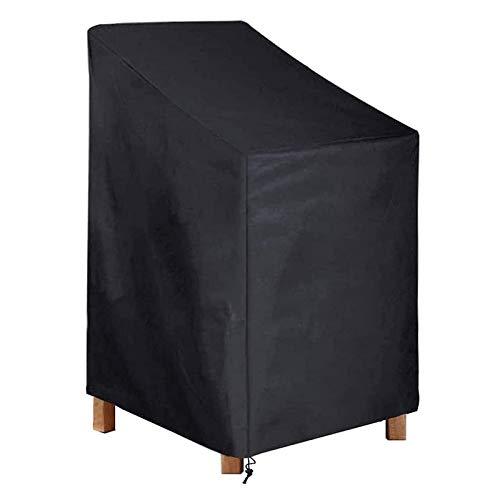 DZLXY Cubierta Protectora de sillas de jardín con Cubierta de Muebles de Exterior Impermeable, Cubierta para sillas de jardín apiladas