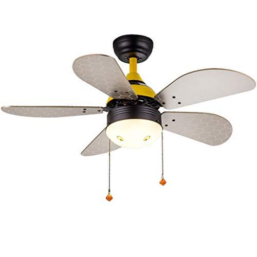 Ventilador de techo moderno/madera/iluminación interior/luces/luces/sala de estar/cocina suave