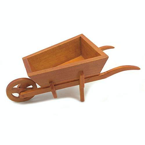 Dollhouse Red Single Wheel Cart Wheelbarrow 1:12 Miniature Decoration