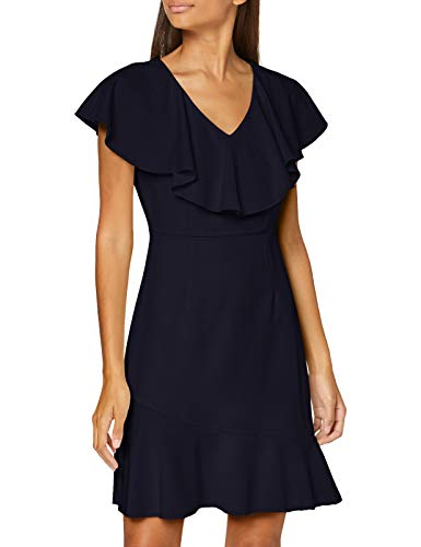 VERO MODA Damen VMLINE S/L ABK Dress TLR CE Cocktailkleid, Night Sky, 36