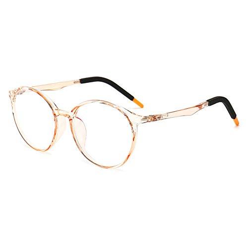VEVESMUNDO Kinderbrille Anti Blaulichtfilter Computerbrille Brillenfassung Silikon Ohne Sehstärke Rund Brillenrahmen Brillengestell mit Etui Für Mädchen Jungen (transparente orange)