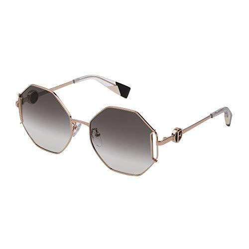 Occhiali da Sole Furla SFU347 0300 55-18-135 Donna oro rose' lucido totale Lenti smoke gradient