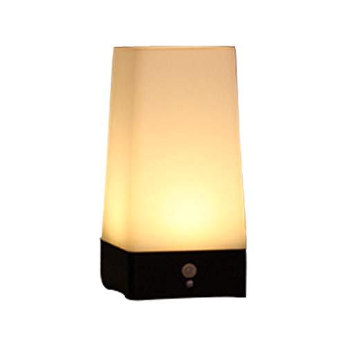 Moderne nachtlamp, led-nachtlampje, actieve stapverlichting, lampen, draadloze PIR-bewegingssensor, voor binnen en buiten, sensitive, draagbare moving-tafellamp voor hal, kamer