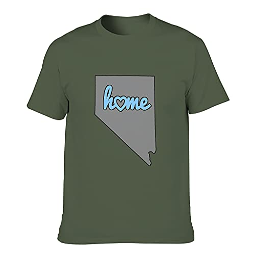 YCNJJB Camiseta de algodón para hombre, diseño de mapa de Nevada, con estampado de EE. UU