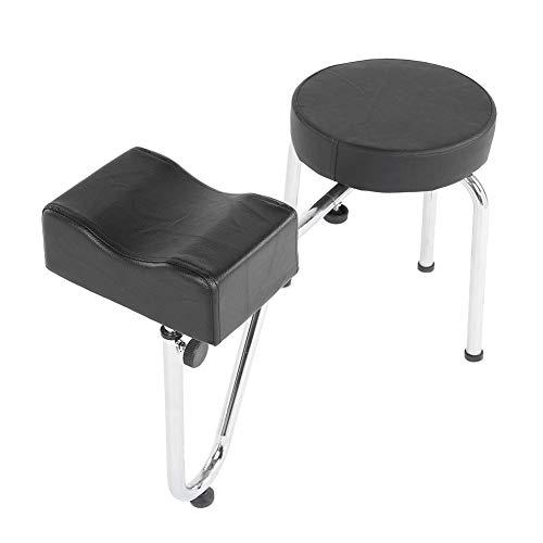 Almohadilla para reposabrazos, uso prolongado, cómodo sillón de pedicura con base de metal, manicura profesional de construcción sólida para salón de uñas(black)