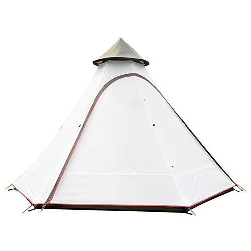 Mdsfe ultralarge 5-8persons double layer indian mongolia hexagonal camping family tent Large multiplayer outdoor camping-cream white,A1