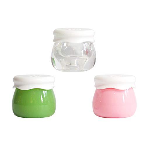 Lot de 5 récipients vides pour produits cosmétiques avec couvercles rechargeables pour slime, échantillons, lotions, crèmes