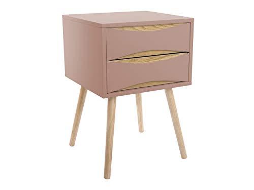 Leitmotiv - Comò Buoyants, 60 x 40 cm, in legno, colore: Rosa/Bianco