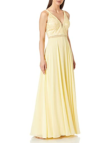 Vera Mont Damen 8269/4000 Kleid, Mellow Yellow, 42