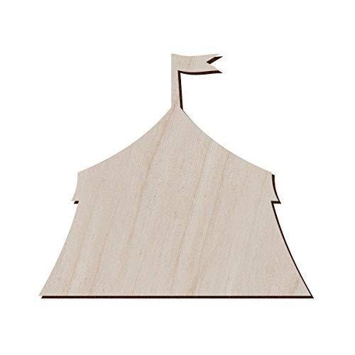 Juego de 10 carpa de circo de madera para manualidades y decoración, imán para tienda de circo, tienda de circo, colgante de carpa de circo, 12.7x11.2 cm