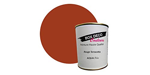 Peinture acrylique aspect mat Aqua déco - Murale - 44 couleurs - 750 ml - 7.5 m² (Rouge...