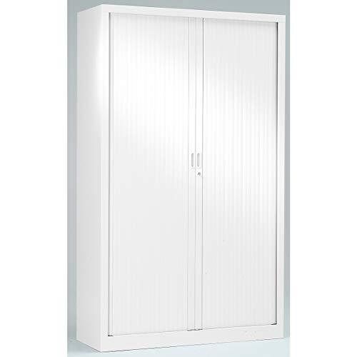 Armoire Monobloc à rideaux |Blanc | HxLxP 1980 x 1000 x 430 | Certeo