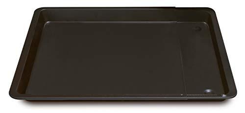 Formegolose 88634FG plaque à four rectangulaire extensible, 33 x 37-52 cm, Noir