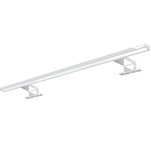 XXL LED Spiegelleuchte Badleuchte 60cm chrom glänzend mit 9W IP44 als Aufbauleuchte für den Badezimmer Schrank in warmweiß