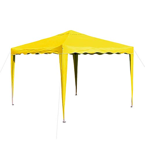 DEMA Alu/Metall Faltpavillon 3x3 Meter Gelb