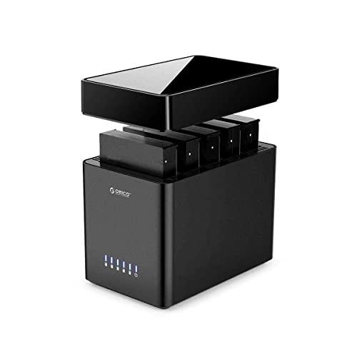 ORICO Docking Station 5 bay Type C Tool-free Custodia per disco rigido magnetica 3.5' per SATA External Hard Drive SATA3.0 da 5x16TB compatibile con Windows/Mac/Linux