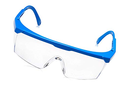 Schutzbrille Klare Linse Blau Rahmen Aushärtung UV-Schutzbrillen Schutzaugen