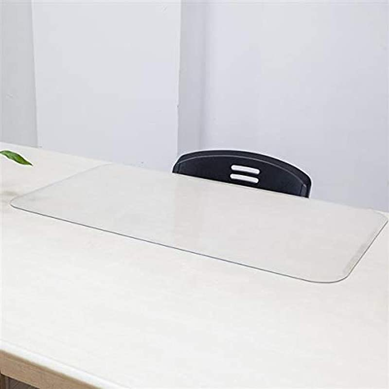 Soulor Custom 2 5mm Thick PVC Desk Protector Clear Desk Pad 35 X 19 Inch Plastic Table Cover Rectangular Vinyl Table Protecto
