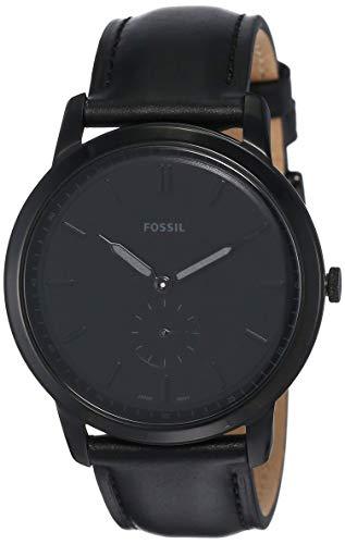 Fossil Herren Analog Quarz Uhr mit Leder Armband FS5447