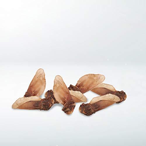 GESPETFOOD - Snack Deshidratado para Perros - Orejas de Ternera con Carne - Bolsa de 1 kg - 10 Uds. Aprox - 100% Carne de Ternera - Sabor Único - Encías Saludables - 100% Natural - Fabricado en España