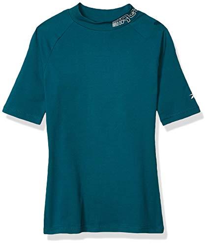 Reebok - Camiseta de Manga Corta para Mujer, Mujer, Manga Corta, GJJ62, Heritage Verde Azulado, Extra-Small