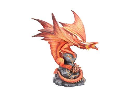Nemesis Now Figura de dragón de Fuego Adulto Anne Stokes de 24,5 cm, Resina, Rojo, Talla única